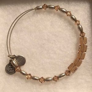 Alex and Ani crystal beaded bracelet